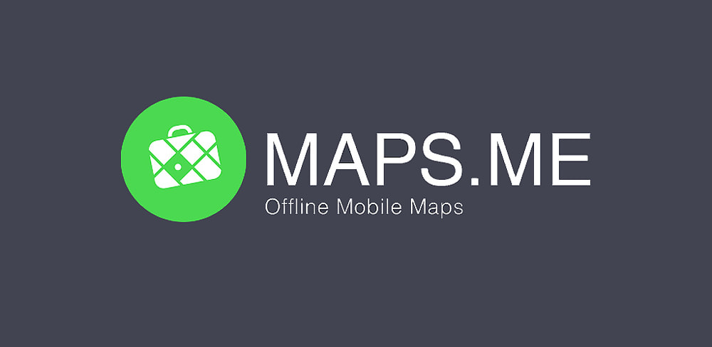 Maps.me offline mobile maps banner