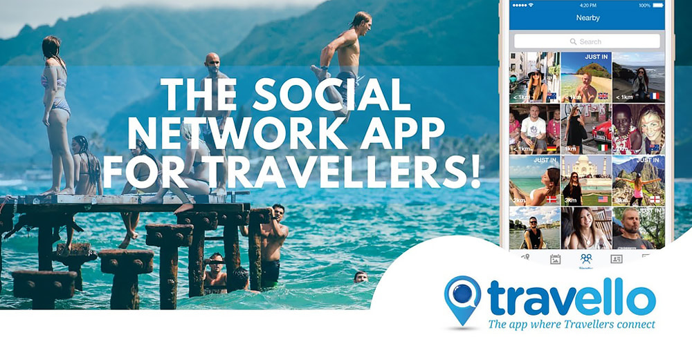 Travello social travel app banner
