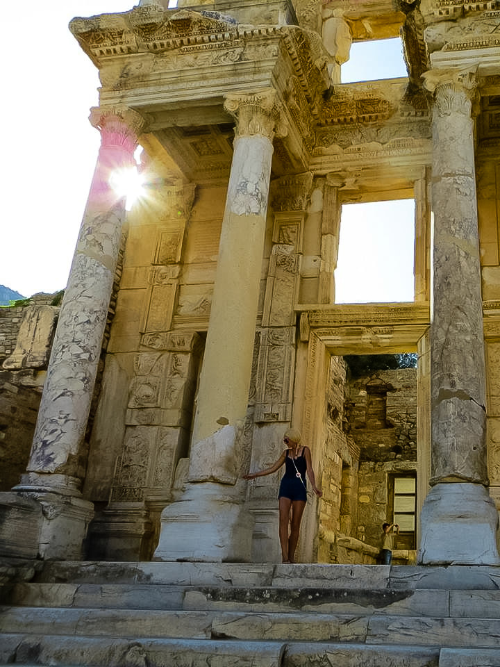 7 Places That Everyone Must Visit in Turkey. Exploring the Library of Celsus at Ephesus.