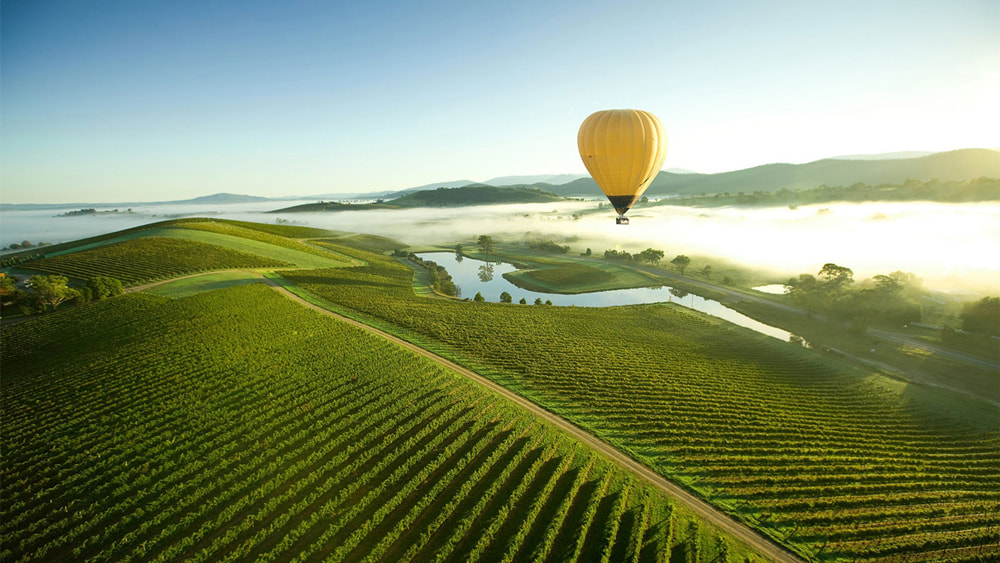 10 of the Best Places in the World to go Hot Air Ballooning: Yarra Valley, Victoria, Australia.